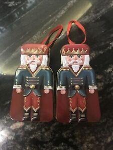 Nutcracker Soldier Empty Tins X2 Christmas Tree Decoration