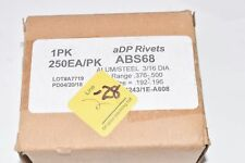 Pack of NEW aDP Rivets, ABS68, Aluminum/Steel Rivets, Aerospace