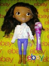 "Disney Junior Doc McStuffins 13.5""  DOLL W HAIR & MUSICAL LIGHT UP MICROPHONE"