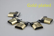 5Pcs HDMI Male Gold Plate 19Pin Plug Soldering Wire Type Connectors