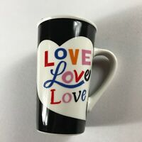 Starbucks Coffee Mug 16oz Drink Rainbow Colorful Black White Cup Collectible