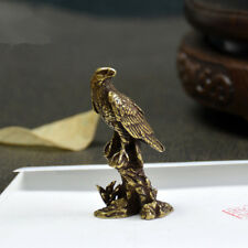 China's archaize brass eagle Small statue 4cm
