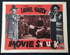 LAUREL AND HARDY MOVIE STRUCK R54 Astor LOBBY CARD Pick a Star RARE a