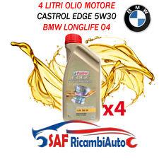 4 LITRI OLIO MOTORE CASTROL EDGE 5W30 VW PROFESSIONAL LL04 BMW LONG LIFE 4