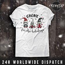 Gnome für Die Urlaub T-Shirt Merry Christmas Magic Schneeflocken Schneemann Gift