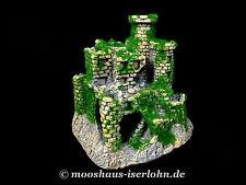 Burg mit Moos Aquarium Dekoration Castle Festung Ritterburg Höhle Schloss