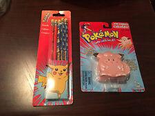 NEW Pokemon Clefairy Calculator Flip Style w/ Pikachu Pencils Back 2 School Lot