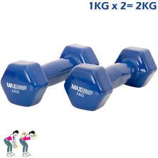 Manubri blu per body building 2kg