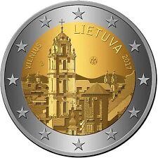 manueduc   LITUANIA  2  EUROS 2017 VILNIUS  CAPITAL CULTURAL CONMEMORATIVA   UNC