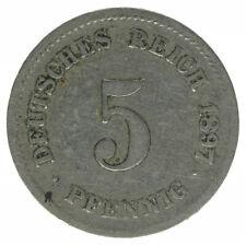 Deutsches Reich 5 Pfennig 1897 G A50491