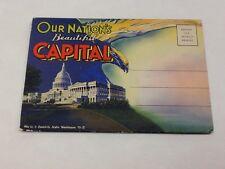 Washington Dc State Capitol Views Antique Postcard Folder (J34364)