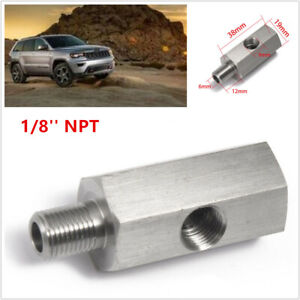 1/8'' NPT Car Oil Pressure Sensor Tee to NPT Adapter Turbo Supply Feed Fitting