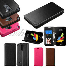 For LG Stylo 5 Leather Flip Wallet Phone Case Cover Protective Card Pouch Stand
