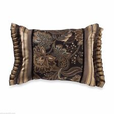 J. Queen Alicante Decorative Boudoir Toss Pillow Damask Floral Black Valdosta