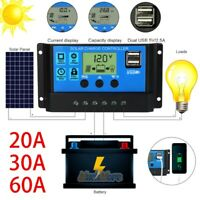 30-60A Solar Panel Regulator Battey Charge Controller 12/24V Auto Focus Tracking