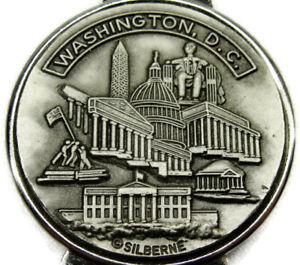 Washington DC Silberne Money Clip Vintage Pewter White House Capitol
