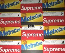 Supreme Metro Card NYC Subway MTA Train Pass New York City Metrocard SS17 X