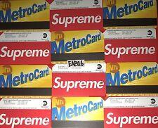 Supreme Metro Card w $42.77 Fare NYC Subway MTA New York City Metrocard SS17 X