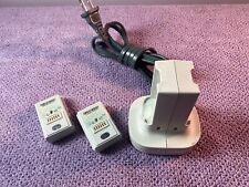 Official Microsoft XBox 360 QUICK CHARGE Kit charger 2 Batteries White