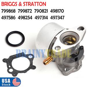 FOR Briggs & Stratton Carburetor 498254 497347 497314 799868 799872 790821 Carb