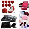 Jewelry Ring Box Display Case Organizer Storage Ring Earring Velvet Tray Holder