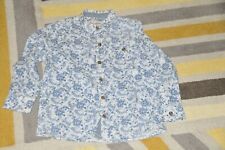 BOYS NEXT WHITE BLUE FLORAL PAISLEY LONG SLEEVE SHIRT SIZE 4-5 YEARS