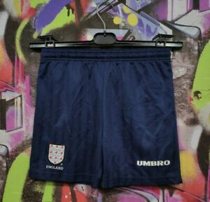 England National Football Team Soccer Shorts Vintage Youth size 26'' 10-11 Years