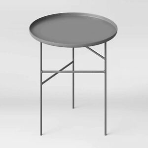 "NEW In Box! - Project 62 Elgin Round 19""x17"" Steel Accent Table - Gray (Target)"