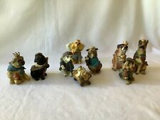 Dog Figurine Christmas Nativity Set
