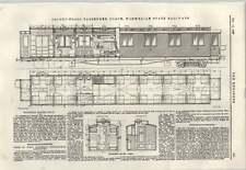 1897 Second-class Passenger Coach Norwegian State Railway Diesel Oil Engine