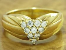 18kt 750 Yellow Gold Ring 0,41ct Brilliant Decorations/ Diamond/ 5,9g/ Rg 57