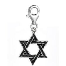 """Star of David"" Clip on Pendant Charm for Bracelet Necklace"