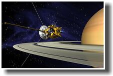Cassini Huygens Orbiting Saturn - NEW NASA SPACE SCIENCE ASTRONOMY POSTER