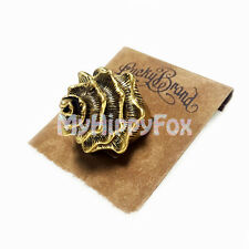 Lucky Brand Anituqued Gold Tone Conch Sea Shell Spiral Ring - Size 7