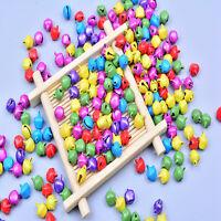 Mini Iron Beads Christmas Jingle Bells Pendants Decoration Christmas Gift 100pcs