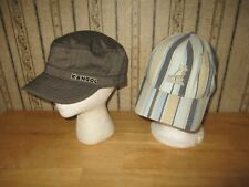 Lot of 2 unisex KANGOL ball cap / hat & conductor style hat - SIZE SMALL / MED
