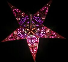 24' Pink Paper Star Hanging Lantern Lamp (Light Cord Is Included) #15