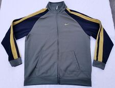 Nike full-zip track jacket men sz 2XL olive/black/mustard vintage vtg 90s