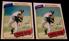 MIKE TORREZ 1980 Topps ERROR Blue Bleed Letters VARIATION #455 Rare OddBaLL SP