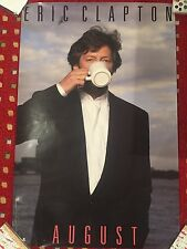 Rare Eric Clapton August Poster coffee mug shot 23x35 promo only 1986