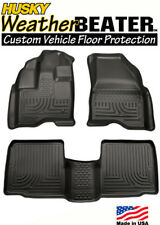Husky 98761 Black Weatherbeater Front & Rear Floor Mats 2011-2014 Ford Explorer