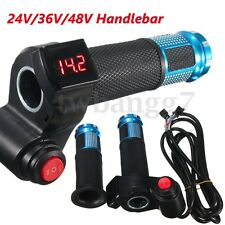 24V-48V E-Bike Handlebar Electric Scooter Bike LED Throttle Grip Digital Meter