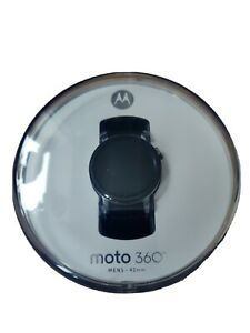 Motorola Moto 360 2nd Gen 42mm Stainless Steel Case Black Leather Strap