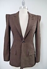 JEAN PAUL GAULTIER Femme brown black houndstooth jacket blazer size 4