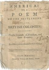 America or, A Poem on theSettlement of the British Colonies.New-Haven (1780).