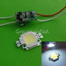 1kit 10W White 10000k-15000k High Power LED Chip + 10Watt Led Driver 12V  24V DC