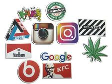 100 Stickers Vinyl Skateboard Social Media Street wear Sticker Brand Logo Decals