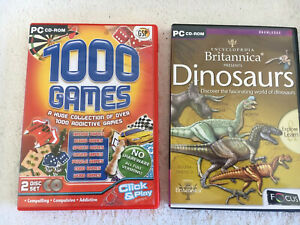 Pc Game Cd Rom X 2 Item Dinosaur Learning Arcade Games Computer Learning