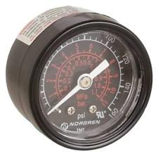 """Norgren 18-013-212 Pressure Gauge 1/8"""" NPT Black 0-160 PSI 2"""" Diameter"""