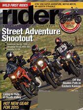 RIDER May 2015--Indian,Kawasaki,KTM, Moto Guzzi, MV Agusta,Suzuki,Victory,Yamaha